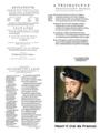 Charles Utenhove, Epitaphe sur le trespas du roy treschrestien Henri Roy de France II de ce nom, Estienne, 1560, Titre, Privilège & envoi du roi.png