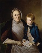 Charles Willson Peale - Mrs. James Smith and Grandson - Google Art Project