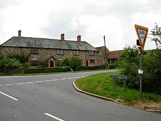 Charley, Leicestershire - Crossroads in Charley photographed June 2006