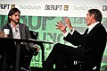 Charlie Rose and Ashton Kutcher during TechCrunch Disrupt New York May 2011, 6.jpg