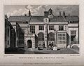 Charterhouse Hospital School, London; boys playing cricket. Wellcome V0013032.jpg