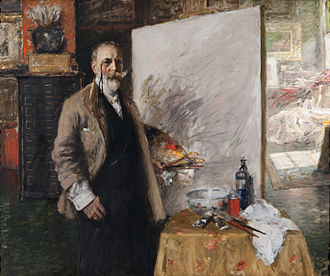 William Merritt Chase - Self portrait, 1915–16, oil on canvas, Richmond Art Museum