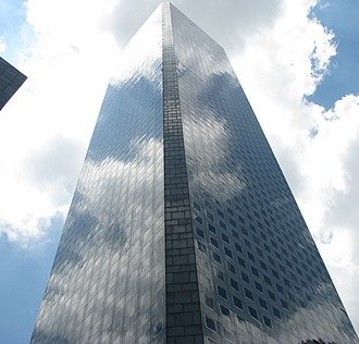 JPMorgan Chase Tower (Houston) - Image: Chasetowerreflection