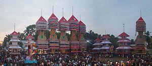 Chettikulangara Devi Temple - 2017 Chettikulangara Kettukazcha panorama