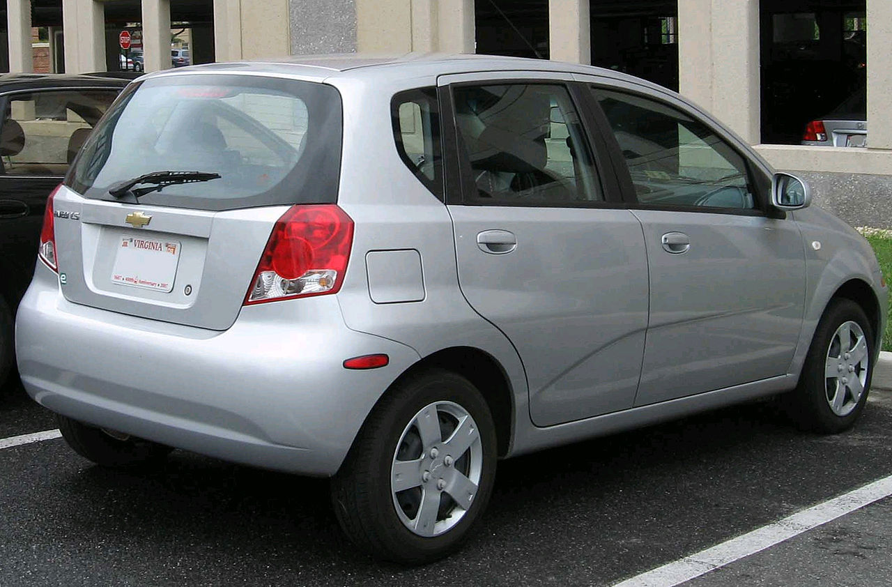 File Chevrolet Aveo Hatch Rear Jpg Wikimedia Commons