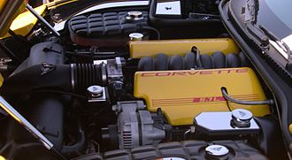 LS based GM small-block engine - GM LS1 engine in a Chevrolet Corvette C5