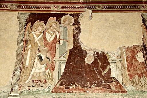 Chiesa San Francesco (Lucignano), frammenti degli affreschi attribuiti a Bartolo di Fredi e Taddeo di Bartolo