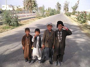 Children in Helmand Province of Afghanistan