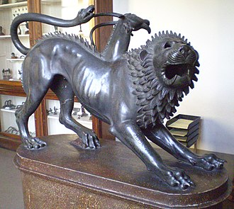 "Chimera (mythology) - ""Chimera of Arezzo"": an Etruscan bronze"