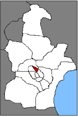 Location o Hebei Destrict in Tianjin