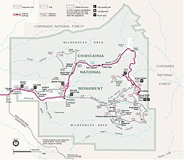 Chiricahua National Monument - Wikipedia