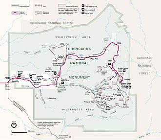 Chiricahua National Monument - Image: Chiricahua park 99