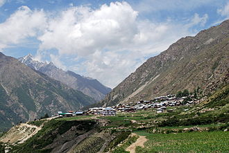 Indo-Tibetan Border Police - Chitkul Village, as seen from the road to the ITBP checkpost