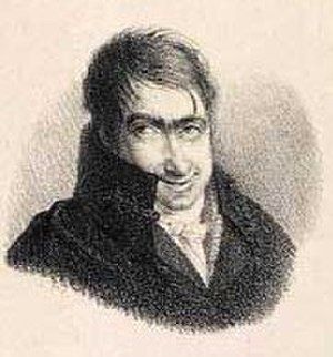 Christian David Gebauer - Christian David Gebauer; caricature by unknown artist (c.1800)