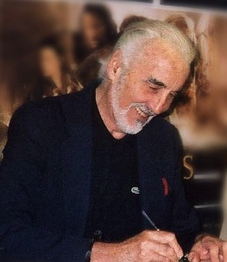 Christopher Lee - Lee at Forbidden Planet New Oxford Street, London, signing The Two Towers in January 2008