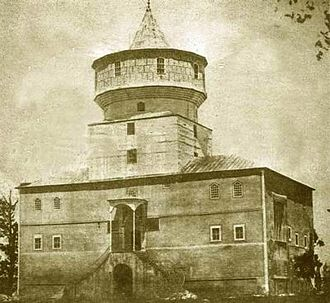 Edirne - Historical image of Cihannüma Kasrı (Panoramic Pavilion), part of Edirne Palace complex