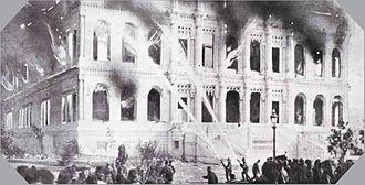 Çırağan Palace - The palace burned out in 1909