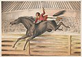 Circus performer riding a vaulting horse bareback LCCN2003655700.jpg