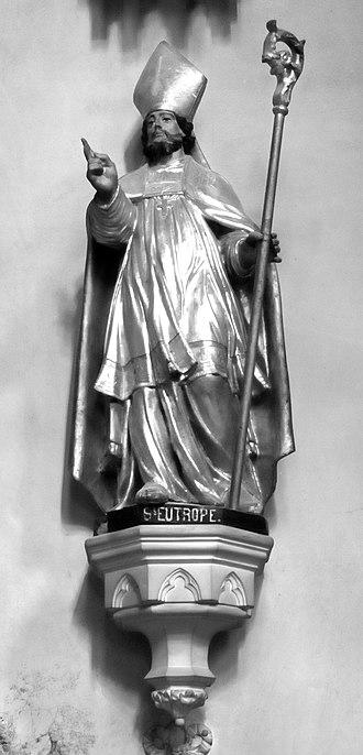 Eutropius of Saintes - Église Saint-Eutrope, Clermont-Ferrand.  Statue of Eutropius.