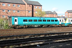 Class 175 units in the sidings at Chester station (27427026556).jpg