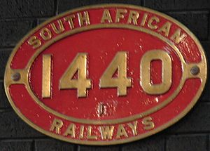 South African Class 1B 4-8-2 - Image: Class 1B 1440 (4 8 2)