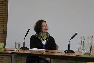 Claudia Roden - Claudia Roden in the chair at the Oxford Symposium on Food and Cookery, 2012