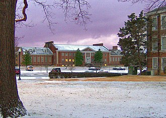 Tennessee Technological University - Clement Hall in Winter.