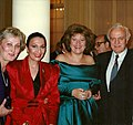 Cleopatra and Elena Obraztsova, Russian Mezzo-Sopranist (wearing Cleopatra design), Eduard Shevardnadze, former Soviet Foreign Minister, in Washington, DC.jpg