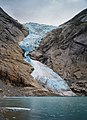 Close view to Briksdalsbreen from lake, 2011 August.jpg