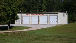 The Fire Department Building in Coaling, Alabama