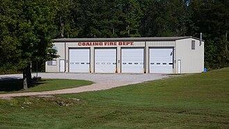 Coaling, Alabama - The Fire Department Building in Coaling, Alabama