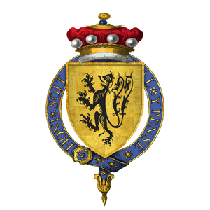 Lionel de Welles, 6th Baron Welles - Arms of Sir Lionel de Welles, 6th Baron Welles, KG