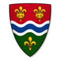 Coat of arms of the city of Ross-on-Wye, Herefordshire, granted in 1953.png