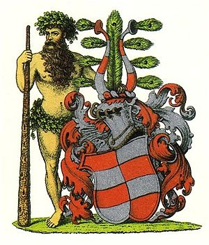 Bille (noble family) - Coat of arms, drawn 1890 by Anders Thiset