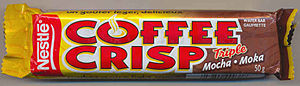 Image of Coffee Crisp (Mocha) wrapper. This ca...