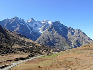 Meije - The Meije Massif from Col du Lautaret