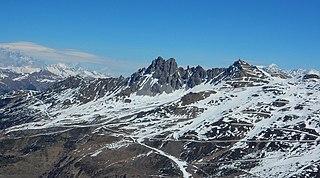 Col de la Loze Mountain pass in the French Alps