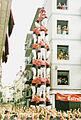 Colla Vella dels Xiquets de Valls - Primer 4de9 sense folre carregat en la segona època d'or - Diada de Santa Úrsula 2001.jpg