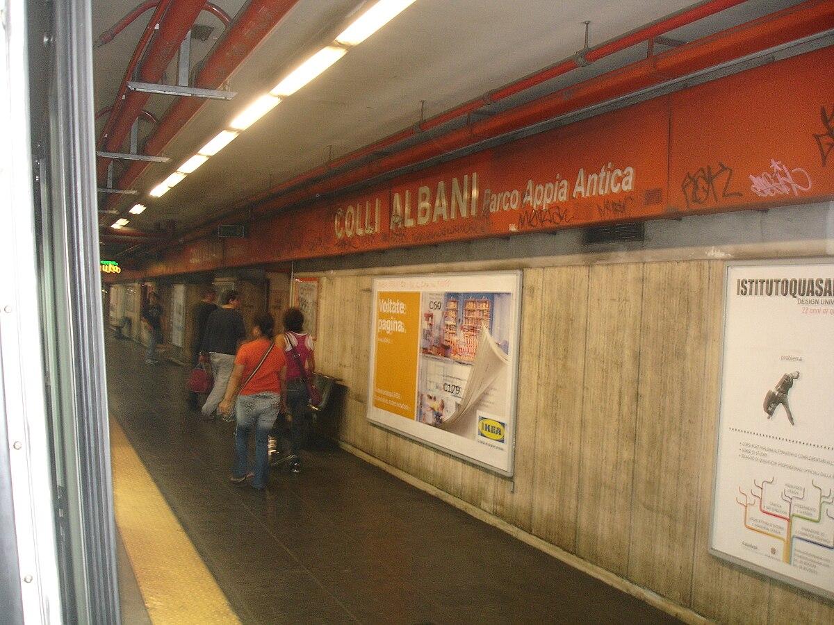 Colli albani rome metro wikipedia - Metro porta furba roma ...
