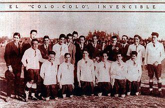 Colo-Colo - One of the first Colo-Colo line-ups, 1925