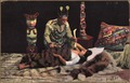 "Color post card. Indian witch doctor (""shaman"") healing a sick woman. - NARA - 297728.tif"