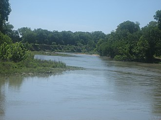 Bastrop, Texas - The Colorado River through Bastrop.