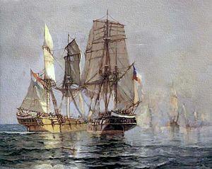 Battle of Casma - Painting of the battle of Casma by Álvaro Casanova Zenteno