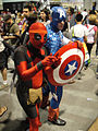 Comic-Con 2010 - Deadpool and Captain America (4878687460).jpg