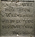 Commemorative plaque of Polish civilians killed by Russian Army in Warsaw in 1861.PNG
