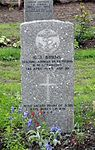 Commonwealth War Graves gravestone of G. J. Burns in Tromsø.jpg
