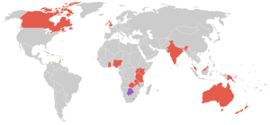 1974 British Commonwealth Games - Participating countries