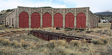 Como Roundhouse is the only narrow-gauge roundhouse still standing in Colorado. Until 1937, it handled repairs on the railroads. In 1938, the remaining tracks were removed.