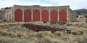 Como, Colorado - Como Roundhouse is the only narrow-gauge roundhouse still standing in Colorado. Until 1937, it handled repairs on the railroads. In 1938, the remaining tracks were removed.