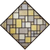 Compositie met raster 5 - ruit, compositie met kleuren, Piet Mondriaan, 1919 01.jpg